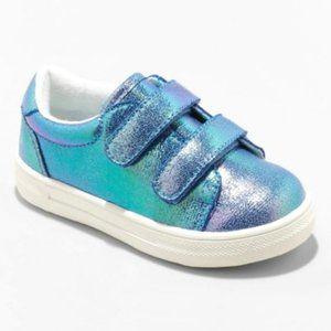 NWT Cat & Jack Toddler Girl Iridescent Sneakers 12